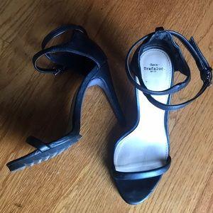 Zara Trafaluc Wraparound Ankle Strap Heels